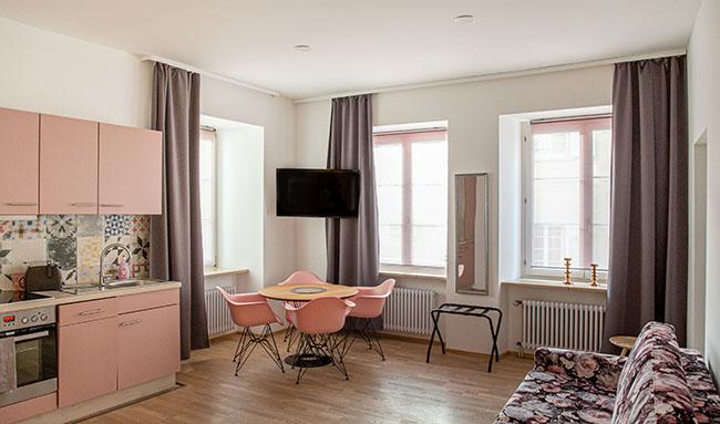 Apartment Stockach A6 Küche Wohn-Essbereich