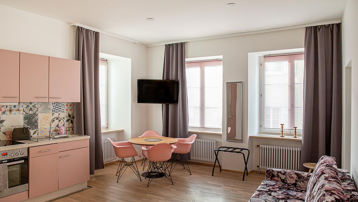Apartment Stockach A6 Küche Essbereich