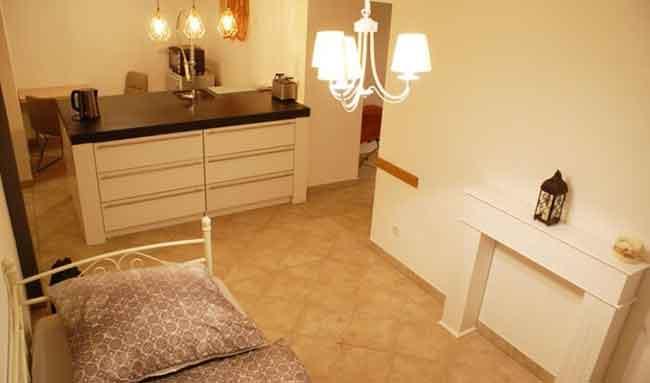 Apartment Gottmadingen A1 Küche Schlafbereich