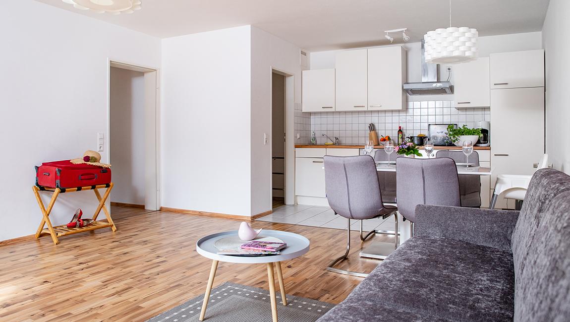 Apartment Singen A12 Küche Wohnbereich