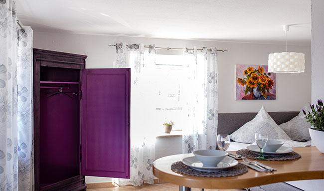 Apartment Gottmadingen A2 Ess-Schlafbereich