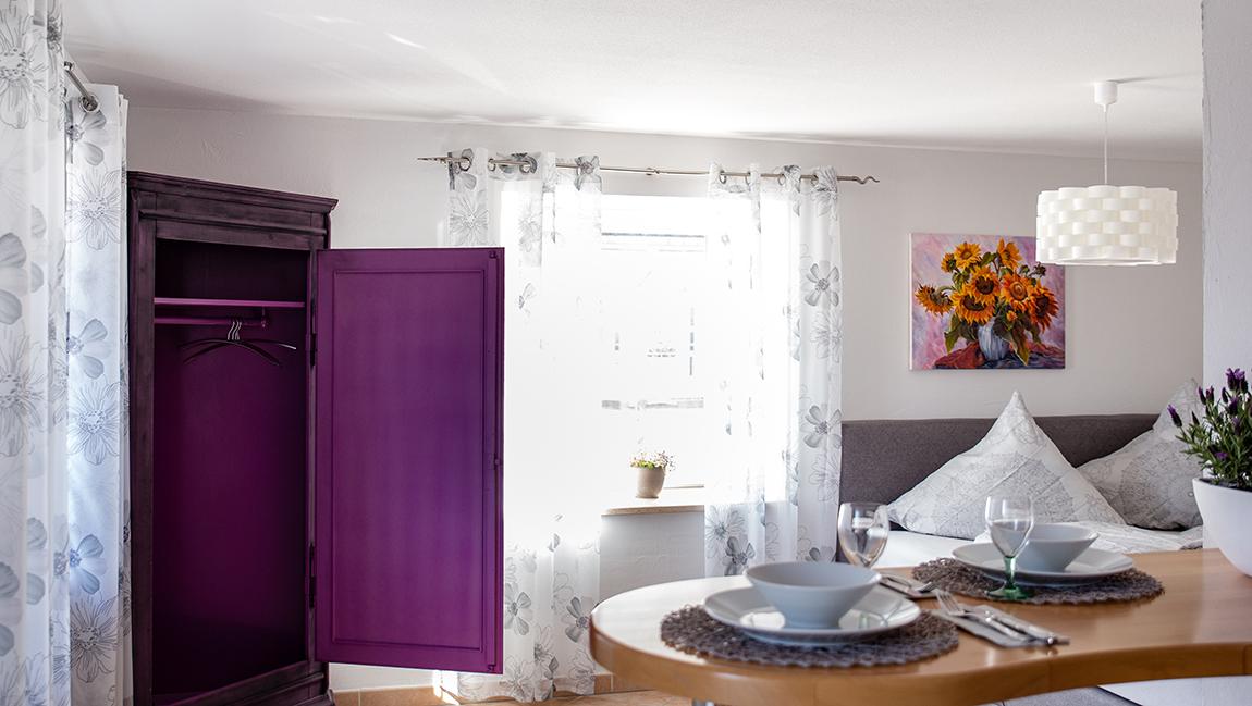Apartment Gottmadingen A2 Wohn-Schlafbereich