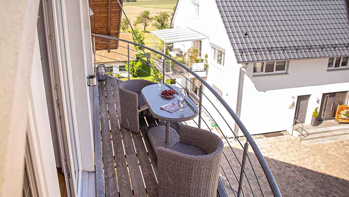 Apartment Gottmadingen A4 Balkon