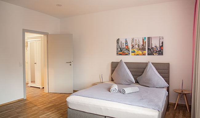 Apartment Stockach A5 Schlafzimmer